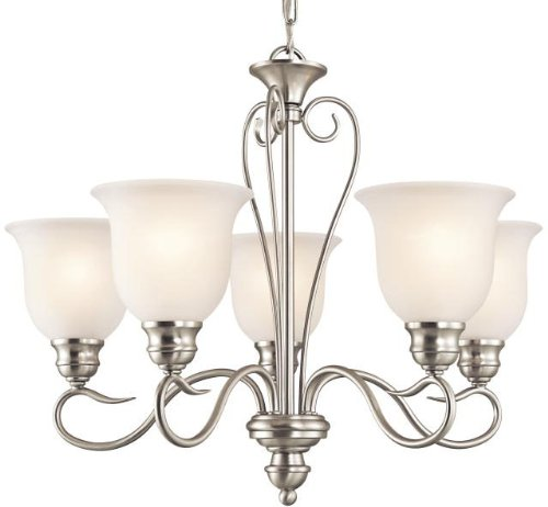 Kichler 42906NI Tanglewood Chandelier 5-Light, Brushed Nickel