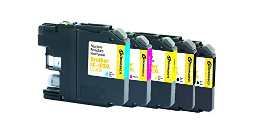 Dataproducts Ink Refill (Dataproducts Remanufactured 5-Pack-Inkjet Cartridges for Brother LC103-2 Black, Cyan, Magenta, Yellow)