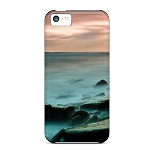Defender Case With Nice Appearance (lighthouse On An Isl In A Misty Sea) For Iphone 5c