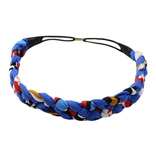 Tricoté cosmétique bandeau de cheveux bande élasthanne Bandeaux Fleur Bleu