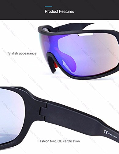 171fae5d35 Lorsoul Polarized Sports Sunglasses UV400 With 5 Interchangeable Lenes for Men  Women Cycling Running Driving Fishing