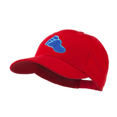 Bigfoot Track Mascot Embroidery Cap - Red OSFM
