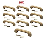 (10-Pack) Liberty Hardware Unfinished Wood Handle Wooden Pull Cabinet 96mm Hole-to-Hole Drawer Cupboard Kitchen Hardware #5520