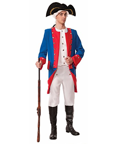 Forum Novelties Men's Patriotic Party Deluxe Colonial General Costume, Multi, One (George Washington Deluxe Adult Mens Costumes)