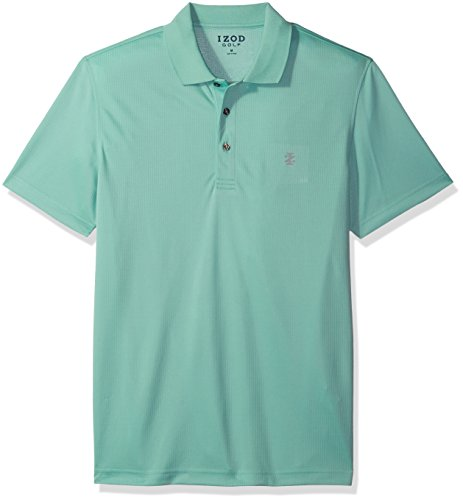 (IZOD Men's Golf Champion Grid Short Sleeve Polo, Dusty Jade Green, Small)