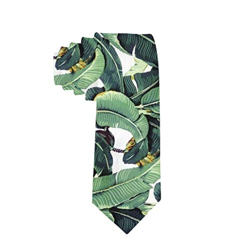 MrDecor Men's Tie Martinique Banana Leaf Necktie Gift