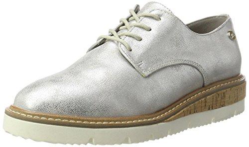 XTI Silver Metallic Ladies Shoes . - Zapatos Derby Mujer plateado (silver)