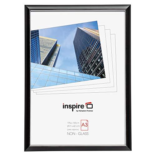 Hampton Frames EasyLoader Negro a3 30x42 cm Certificado Foto Marco de Seguridad plexi Cristal Abertura de la Imagen easa3bkp