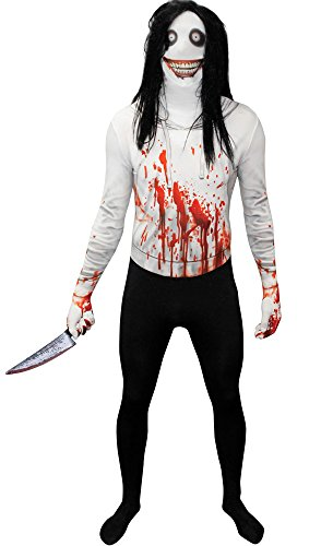 HalloCostume Adult Jeff the Killer Morphsuit - Costume Jeff The Killer