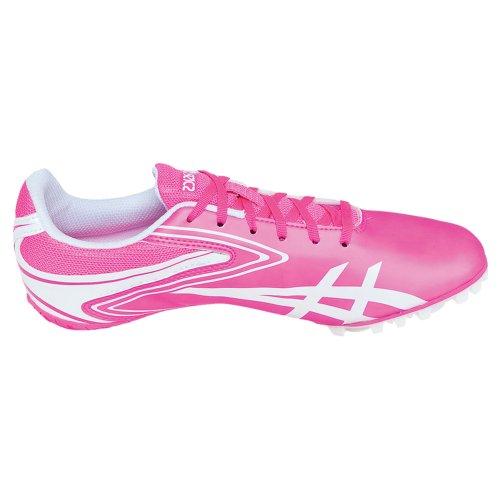 Nieuwe Dames Asics Hyper Rocketgirl Sp 5 Track Schoenen Neon Roze / Wit Sz 8 M