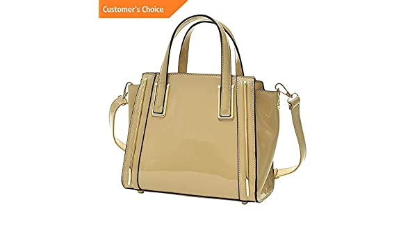 Amazon.com: Sandover Dasein Patent Leather Winged Tote Satchel 3 Colors | Model LGGG - 11384 |: Sandover