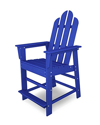 Adirondack Counter Chair (POLYWOOD ECD24PB Long Island Counter Chair, Pacific Blue)