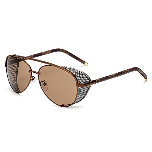 New Fashion Steampunk Sunglasses Luxury Men Women Mirror Sun glasses UV400 Vintage Shades Eyewear,03