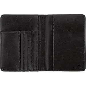 CampTeck PU Leather Passport Cover, RFID Passport Wallet - Water Resistant - Holds Bank Cards, IDs, Driving Licence, Documents, Money, Tickets, Boarding Pass and More - Black