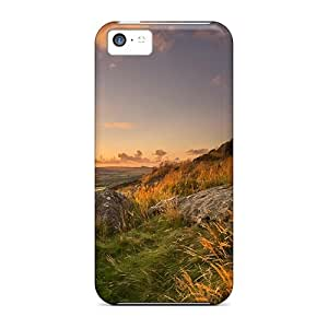 High-end Case Cover Protector For Iphone 5c(sunrise Over Fields In The Valley)