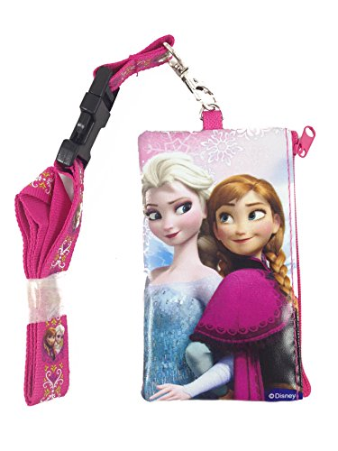 Disney Frozen Elsa and Anna KeyChain Lanyard Fastpass ID Ticket Holder Pink