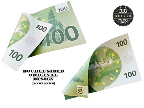 PROP MONEY REALISTIC EUROS | 100 €100 NOTES - Free Spare Bank Note