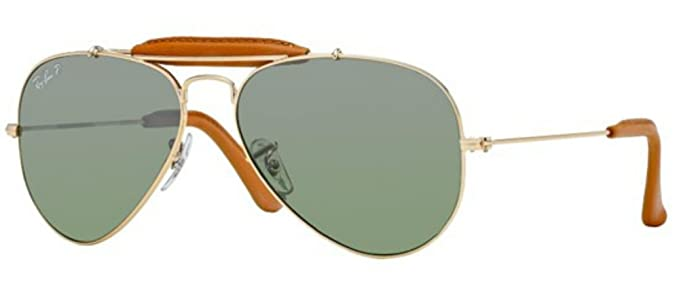Ray Ban Lunettes de soleil RB3422Q Craft Outdoorsman Leather Gold   Red  leather   Pink, 7bfb6d4abfa2