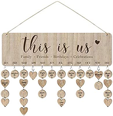 Amazon.com: ElekFX This Is Us Family Friends Birthday Calendar