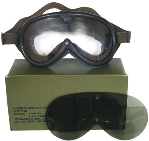10350 Genuine GI Sun Wind & Dust Goggles