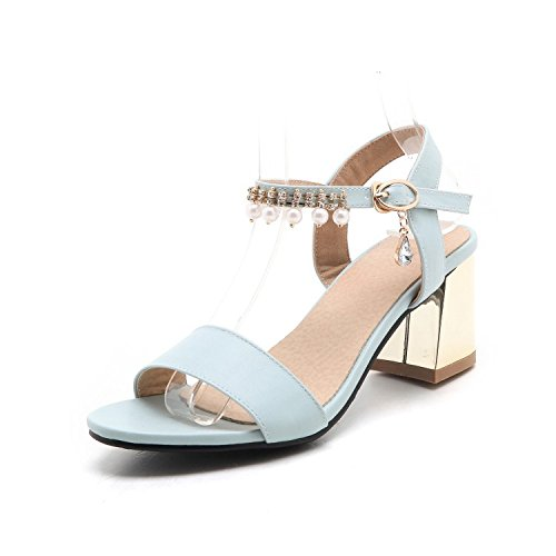 QIN&X Frauen Sandalette Peep Toe Stilettos Knöchelriemen Party Sommer Schuhe, Rot, 41