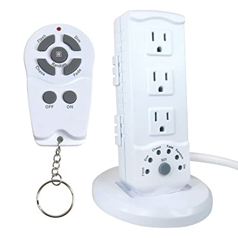 Amazon.com: Prime Wire & Cable RCSTMI3 Indoor White 3-Outlet Multi ...