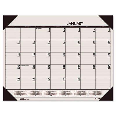 House of Doolittle EcoTONES Monthly Desk Pad Calendar, 4-Corner Holder, 22 x 17, 2013, Sunrise Rose by House of Doolittle (Monthly Desk Calendar Pad Ecotones)