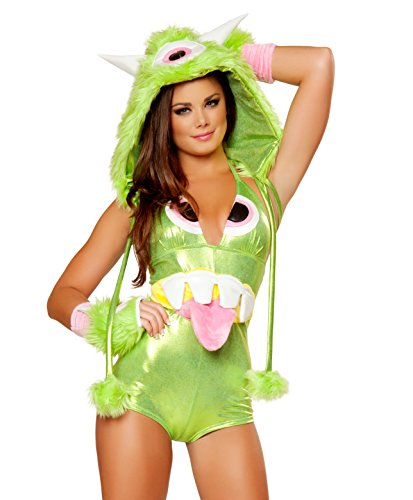 J. Valentine Women's One-Eyed Monster Romper, Green, Large by J. Valentine