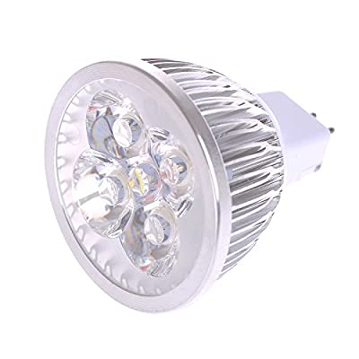 Lot of 10 PCS Dimmable 120V 4W MR16 LED Bulbs - 3200K Warm White LED Spotlights - 50Watt Equivalent - 330 Lumen 60 Degree Beam Angle for Landscape, Recessed, Track lighting