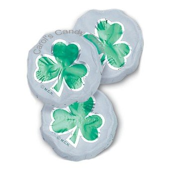 St Patricks Day Shamrocks Solid Milk Chocolate (1/2 Lb - 29 Pcs)