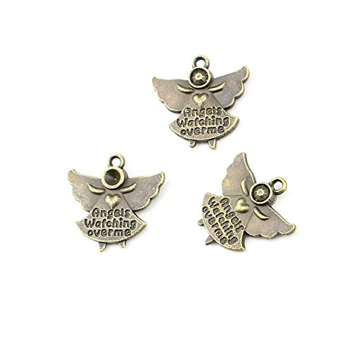 50 pieces Anti-Brass Fashion Jewelry Making Charms 1593 Little Angel Cherub Wholesale Supplies Pendant Craft DIY Vintage Alloys Necklace Bulk Supply Findings