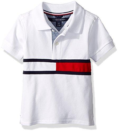 Tommy Hilfiger Baby Boys Short Sleeve Ivy Polo, Gary White, 24M