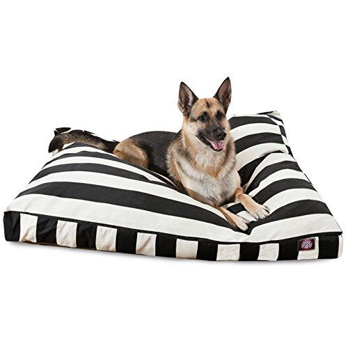 Black Vertical Stripe Extra Large Rectangle Pet Bed