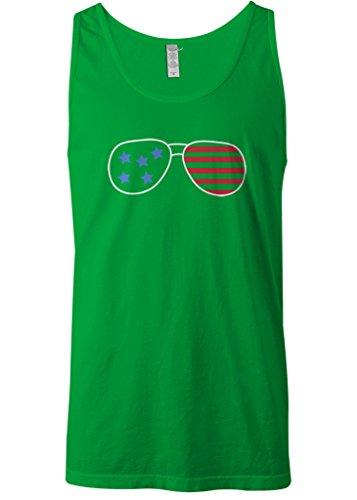 Mixtbrand Men's American Flag Sunglasses Tank Top 2XL - American Sunglasses Tank Flag