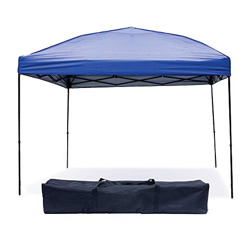 Punchau Pop Up Canopy Tent 10 x 10 Feet, Blue - UV Coated, Waterproof Instant Outdoor Party Gazebo Tent by Punchau
