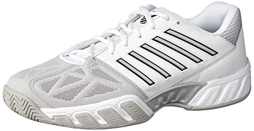 K-Swiss Men's Bigshot Light 3 Tennis Shoes (White/Silver) for sale  Delivered anywhere in USA