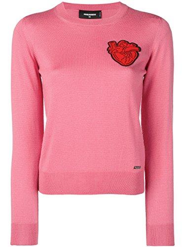 DSQUARED2 Damen S75HA0749S16242241 Rosa Wolle Sweater nXtksiSN4m