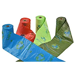Greenbone 18000 BioBase Waste Bag Rolls with A Re-Usable Carry Handle Cannister & Bag Dispenser - 28 Pack (336 Bags) 103