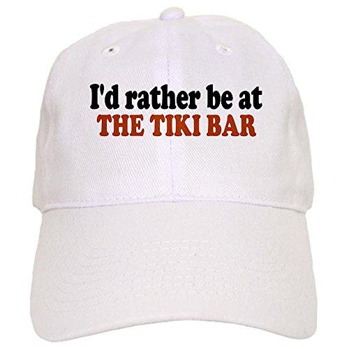 - CafePress Tiki Bar Baseball Cap with Adjustable Closure, Unique Printed Baseball Hat White
