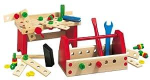 HEROS 100028302 - Banco de trabajo en madera para montar, 50 piezas [Importado de Alemania]