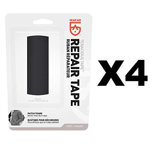 Gear Aid McNett Tenacious Tape Black Ultra Strong Outdoor Repair Tape (4-Pack)