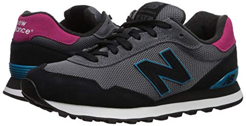 New Balance Women's 515 V1 Sneaker, Light Aluminum/Black/Deep Ozone Blue, 5 W US