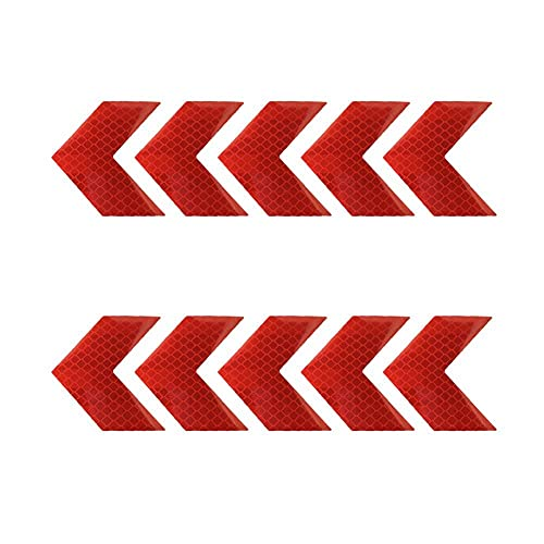 Waarschuwing Tape Reflecterende Pijl Teken Tape Veiligheid Auto Sticker Night Conspicuity Hazard Pijl Sticker Auto…