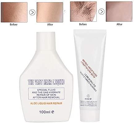 Crema depilatoria depilatoria de 100 ml + 80 g de solución ...