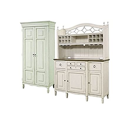 Amazon Com Home Square 2 Piece Dining Room Set With Tall Cabinet