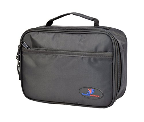 insulated-lunch-box-for-kids-with-double-sewn-nylon-zipper-pockets-and-carry-handle-black