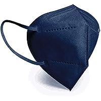 DISOK - Set met 20 maskers FFP2 marineblauw met certificeringen en zonder ventiel, goedgekeurde en hoge filtratie.