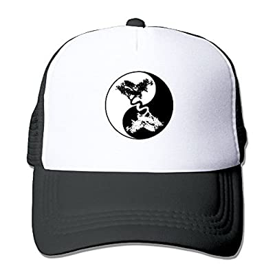 FTR26S Bonsai Tree Yin Yang Printing Unisex Adult Vintage Mesh Trucker Hats Snapback Meshback Caps Adjustable
