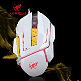 LtrottedJ 7Color LED 3200 DPI 6Button Wired Macro ,Definition Programming Gaming Mouse Mice (White)