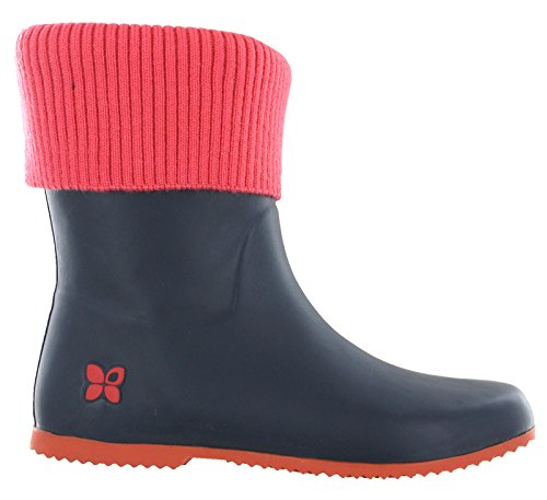 Wellingtons Twists Femme Butterfly Work Navy Coral TFCxq8